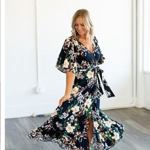 wren and ivory Dresses - Wren and Ivory floral wrap dress